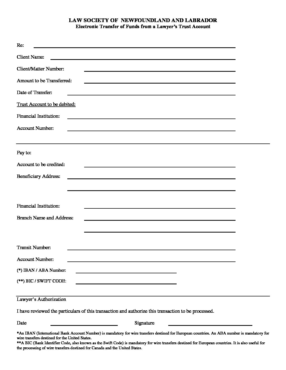 Attractive Wire Transfer Authorization Form Crest